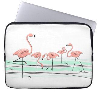 Flamingos Line laptop sleeve