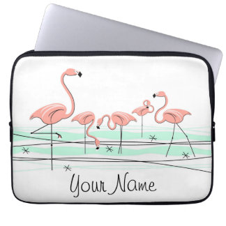 Flamingos Line Name laptop sleeve