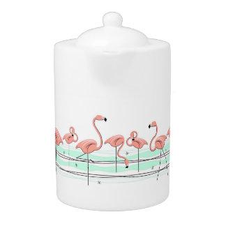 Flamingos Line teapot