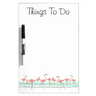"""Flamingos Line """"Things To Do"""" dry erase board"""