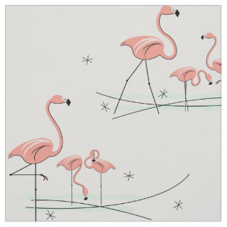 Flamingos Multi large pattern Fabric