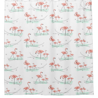 Flamingos Multi shower curtain