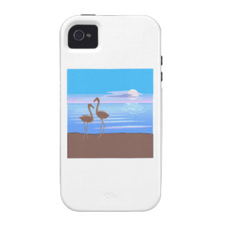 Flamingos On The Beach Case-Mate iPhone 4 Covers
