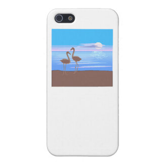 Flamingos On The Beach iPhone 5 Covers