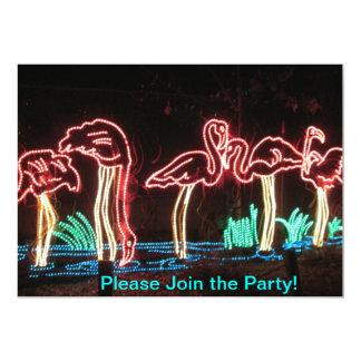 Flamingos Party Invitations