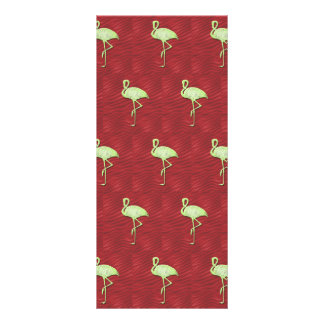 Flamingos pattern personalized rack card