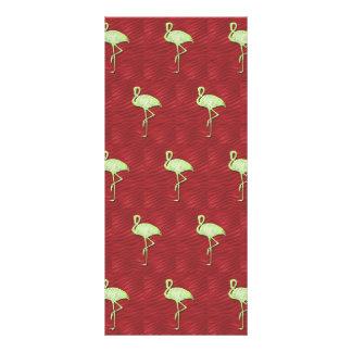 Flamingos pattern full color rack card