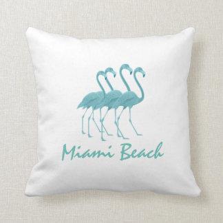 Flamingos Personalize Throw Pillow