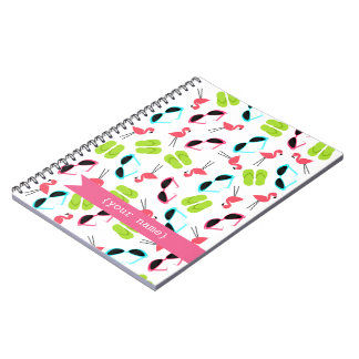 Flamingos Personalized Notebook