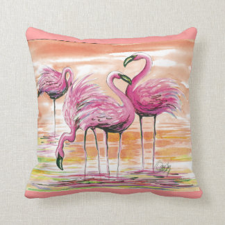 Flamingos- pillow