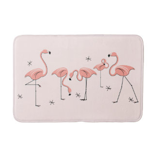 Flamingos Pink Group bath mat