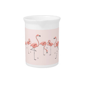 Flamingos Pink Line pitcher