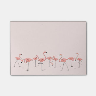 Flamingos Pink Line Post-it Notes
