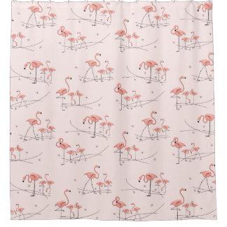 Flamingos Pink Multi shower curtain