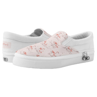 Flamingos Pink Multi slip on shoe