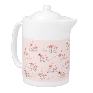 Flamingos Pink Multi teapot