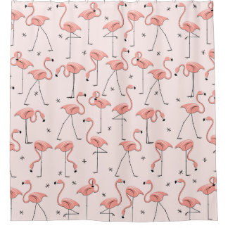 Flamingos Pink shower curtain