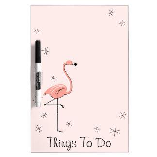 "Flamingos Pink ""Things To"" dry erase board"