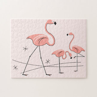 Flamingos Pink Trio 2 puzzle