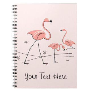 Flamingos Pink Trio 2 Text notebook