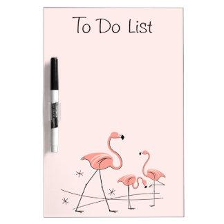 "Flamingos Pink Trio 2 ""To Do List"" dry erase board"