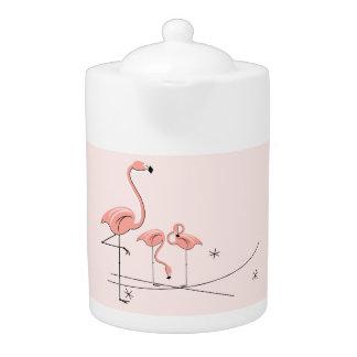 Flamingos Pink Trio 4 teapot
