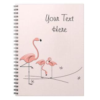 Flamingos Pink Trio 4 Text notebook