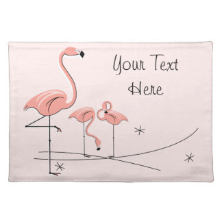 Flamingos Pink Trio 4 text placemat