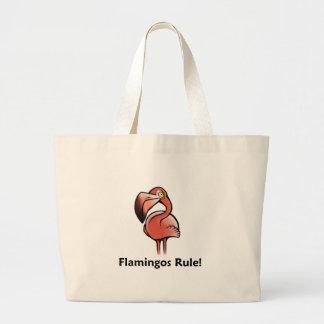 Flamingos Rule! Large Tote Bag