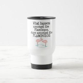 Flamingos Stainless Steel Travel Mug