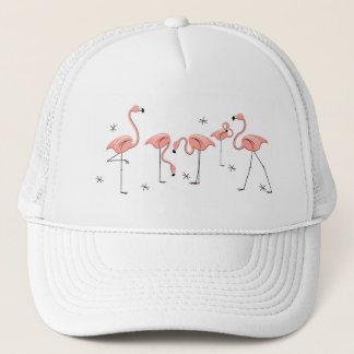 Flamingos Stars group trucker hat