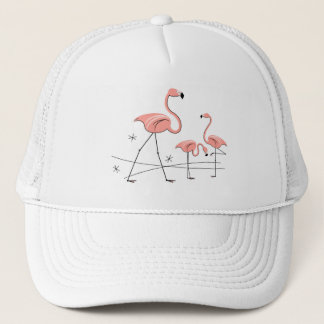 Flamingos Stars Trio 2 group trucker hat