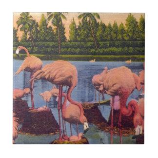 Flamingos Tile