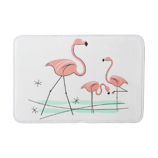 Flamingos Trio 2 bath mat