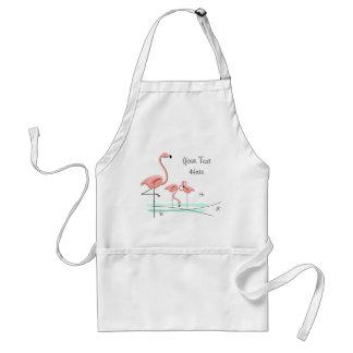 Flamingos Trio 2 Text apron