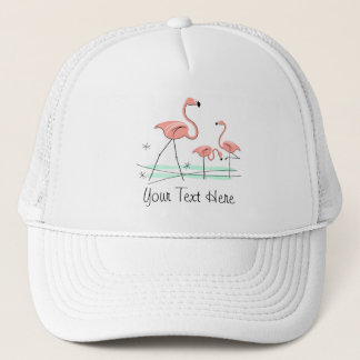 Flamingos Trio 2 'Text' group trucker hat
