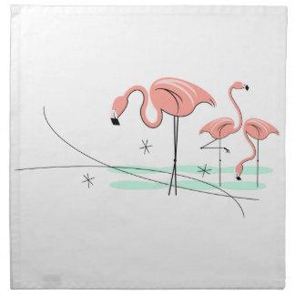 Flamingos Trio 3 cloth napkins (set)