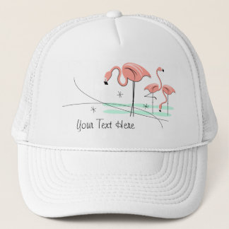 Flamingos Trio 3 'Text' trucker hat