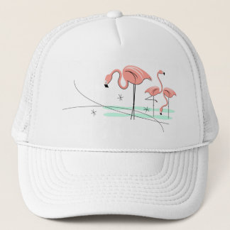 Flamingos Trio 3 trucker hat