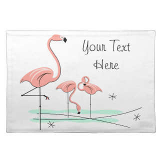 Flamingos Trio 4 text placemat