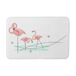 Flamingos Trio bath mat