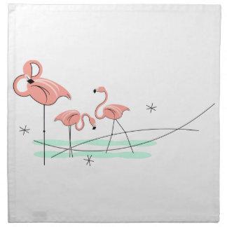 Flamingos Trio cloth napkins (set)