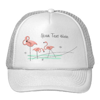 Flamingos Trio 'Text' trucker hat