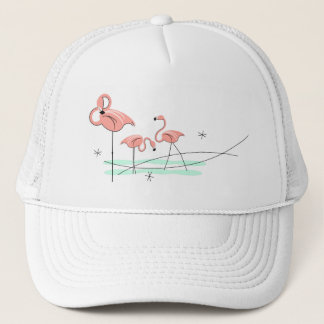 Flamingos Trio trucker hat