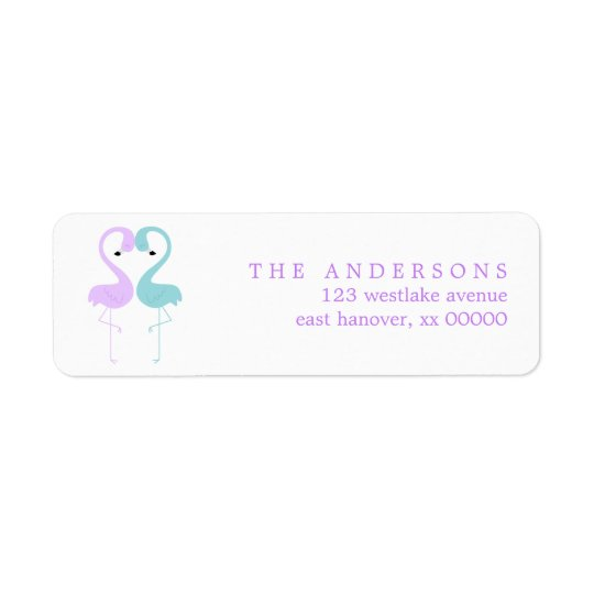 Flamingos Wedding Return Address Label