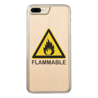Flammable Hazard Sign Carved iPhone 8 Plus/7 Plus Case