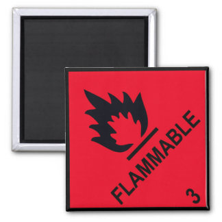 flammable square magnet