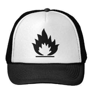 Flammable Warning Sign Cap