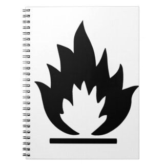 Flammable Warning Sign Notebooks