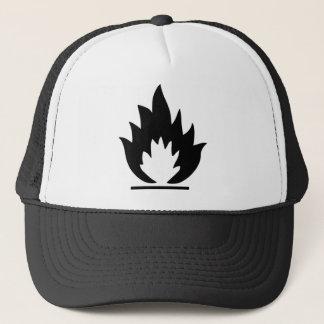 Flammable Warning Sign Trucker Hat
